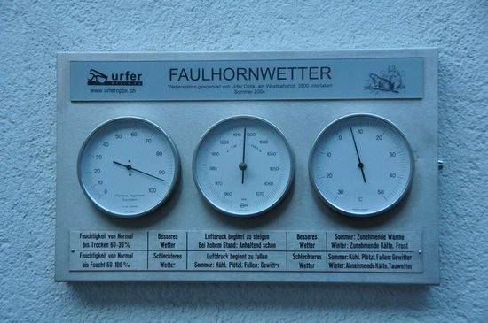 Berghotel Faulhorn: The weather on a summer morning day
