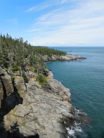 West Quoddy Head Light: Coastal view during my hike.