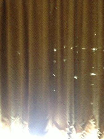 Days Inn Manassas/I-66: The drapes... from the 80's probably and there are more holes than in the picture...