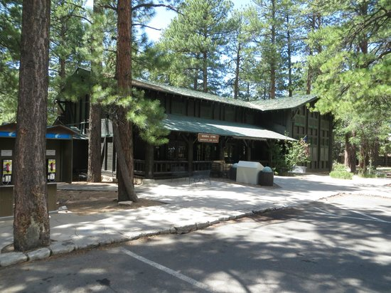 Entrance - Grand Canyon Lodge - North Rim: An oasis of wifi in the General Store at the Campground