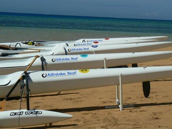 Kadavu Island, Fiji: OC 1 canoes