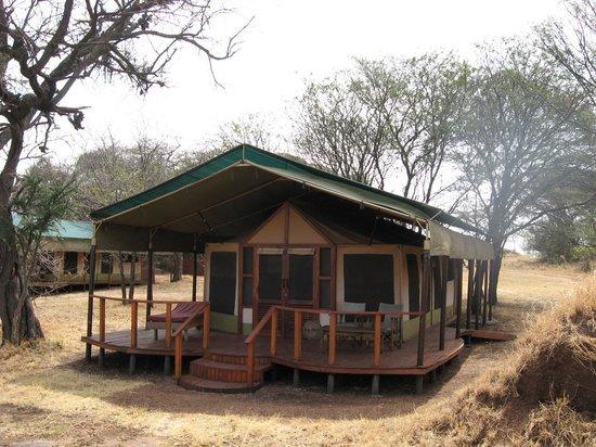 Sanctuary Kusini, Serengeti : Exterior of Tent 10-All are like this