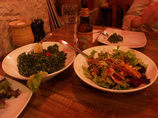 Tishreen : tabouleh + figs and cactus salad