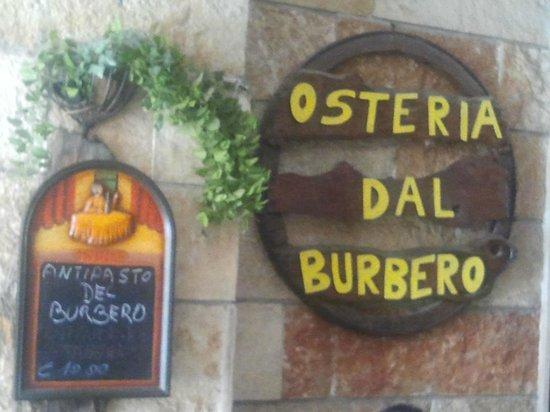 Osteria Dal Burbero: L'insegna