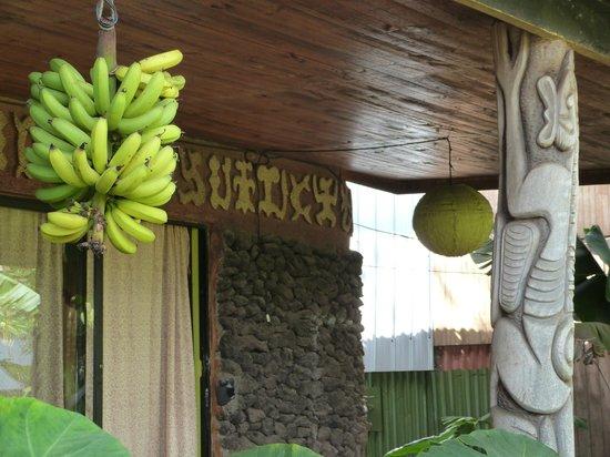Cabanas Koro Nui: Plátanos para desayunar