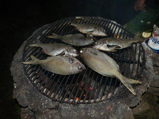 Cabanas Koro Nui: Rica parrillada de pescado