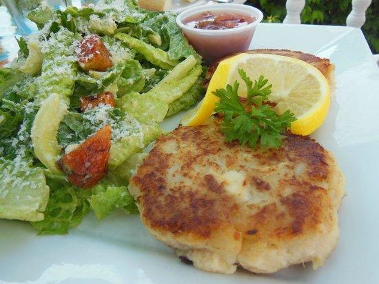 Magnolia's Grill: Fish Cakes with Caesar Salad
