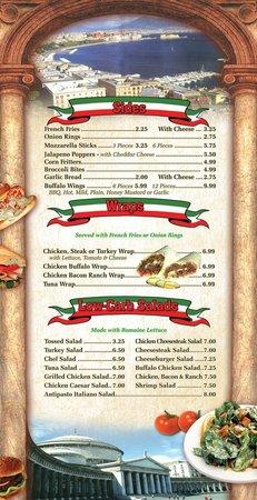 Benny's Italian Eatery: menu