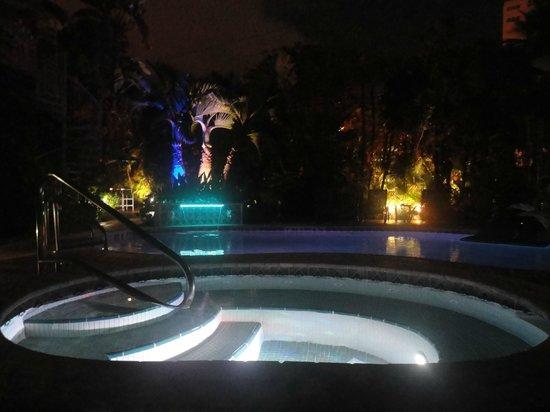 Hotel Lush Royale: Pool/Hot tub @ night