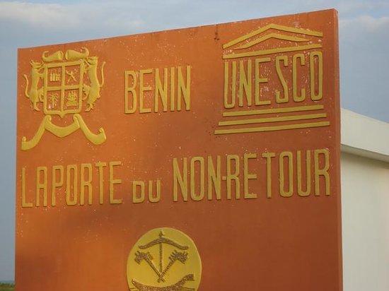 Ouidah, Benin: La porte du non retour est inscrite au patrimoine mondial de l'Unesco