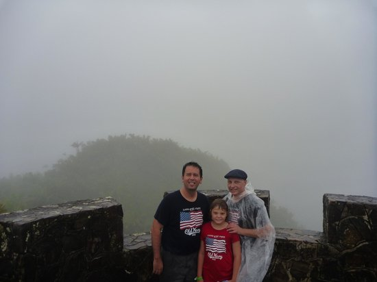 Island Walkers - El Yunque: Our reward at the end of the hike - a view into the clouds