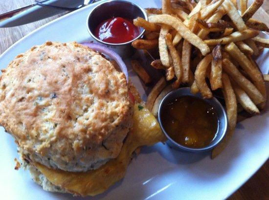 Meat & Potatoes: Chicken sandwich in jalapeno buttermilk