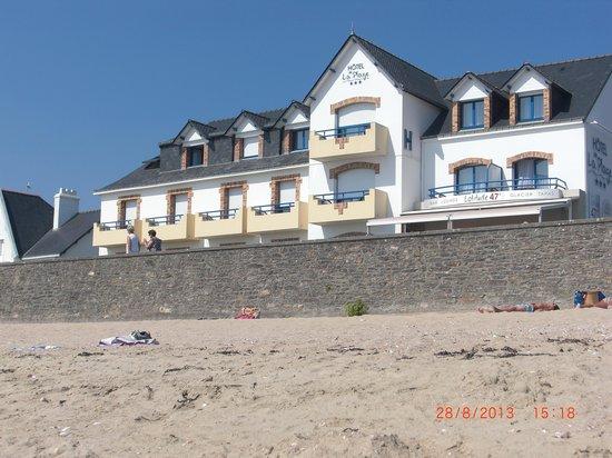 Hotel de la Plage: au pied la plage