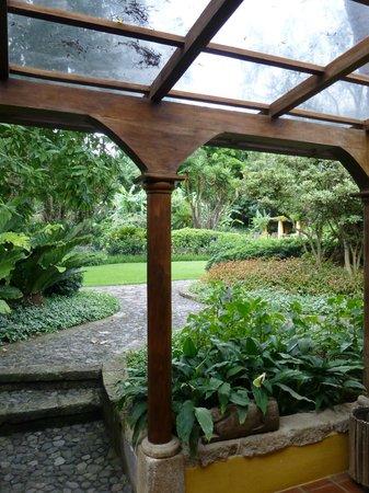 Quinta de las Flores: View from garden room under porch area