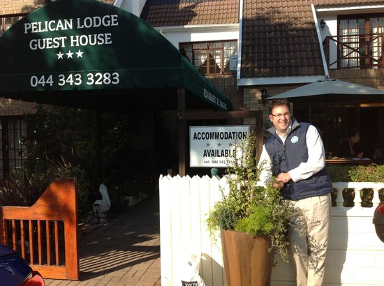 Pelican Lodge: Ian, proprietor extraordinaire