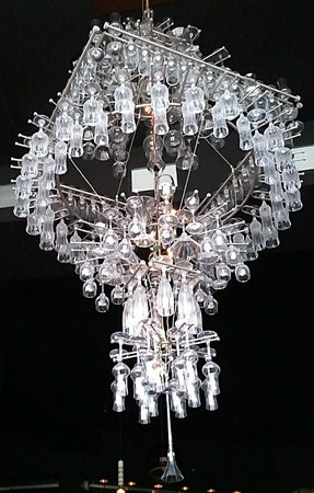 Amazing chandelier picture of pullman wine bar montreal tripadvisor pullman wine bar amazing chandelier aloadofball