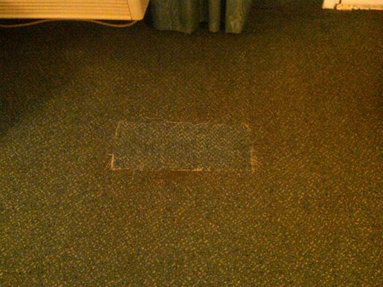 La Quinta Inn and Conference Center San Angelo: Room #1 carpet patch