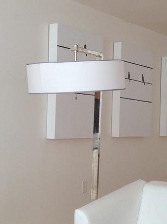 Inn at Serenbe: broken lampshade in loft 13