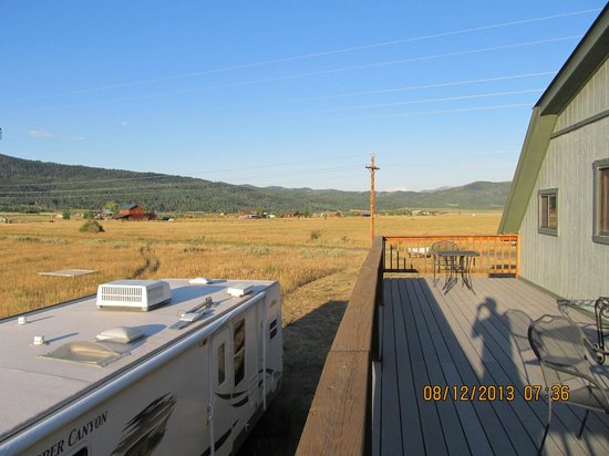 Kasper's Kountryside Inn: view off the back deck--great night sky views as well!