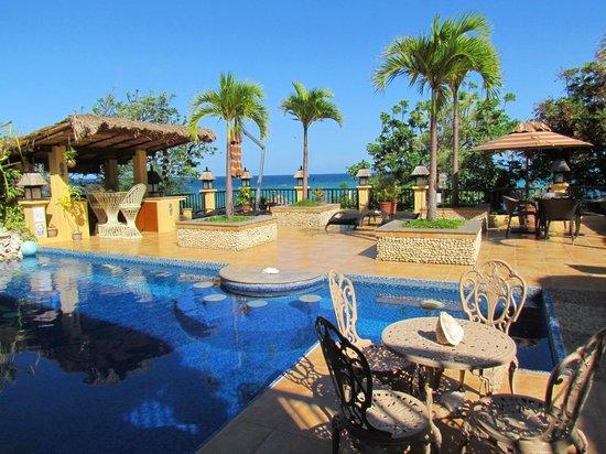Palm Breeze Villa Boracay Hotel: Swimming pool and sundeck