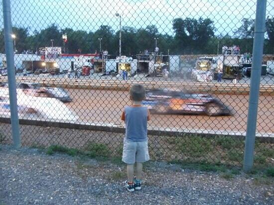 Speedway: My grandson and I love the races.