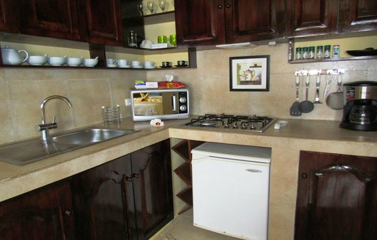 Palm Breeze Villa Boracay Hotel: Kitchen of Jasmine Suite 1-bedroom apartment
