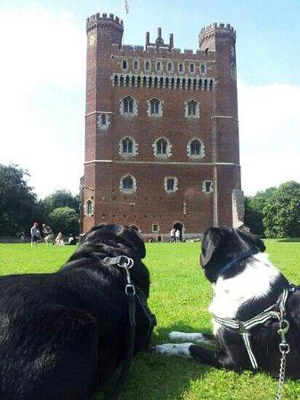 Tattershall Castle: Tom and Sam enjoying Tattershall