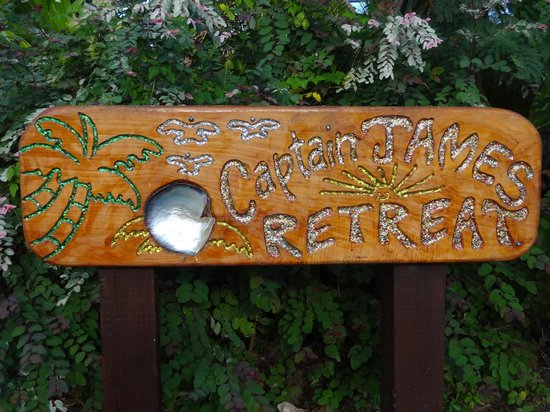 Captain James Retreat: look out for this sign too find the property