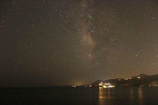 Kavos Bay Seafront Hotel : Milky way with Agina Marina