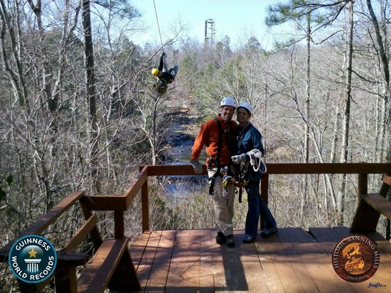 Historic Banning Mills Zip Line Canopy Tours: photobombed by one of our guides