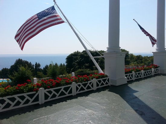 View from The Grand Hotel porch