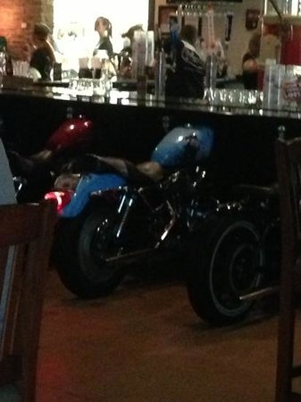 The Wicked Wheel Bar & Grill: cool bar seats
