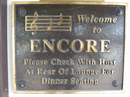 The Fish House Encore: Encore plaque