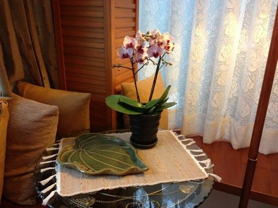 Crossing the Rainbow Bridge Bed and Breakfast : Beautiful orchid in our room