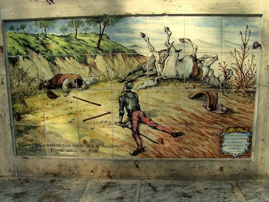 Ruta de Don Quijote: Panel from the Damiel fountain