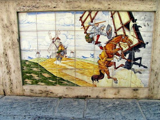 Ruta de Don Quijote: PAnel from Damiel foluntain