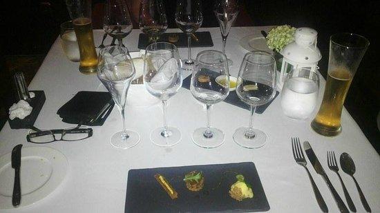 Amuz: 1st course degustation, wine not yet poured