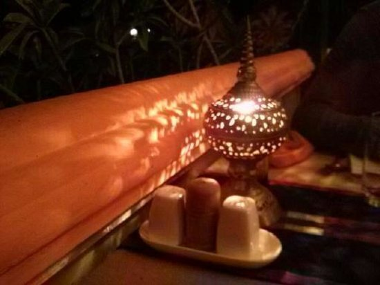 ViewPoint Lodge & Fine Cuisines: table lamp in the restaurant