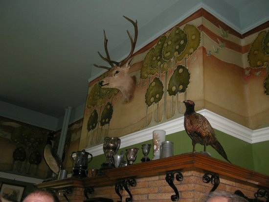 Spadina Museum: Wall detail from the Billiard room