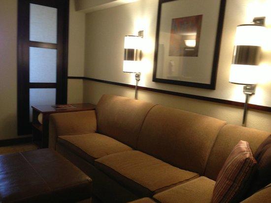 Good Lighting suite-side; settee, good lighting - picture of hyatt place