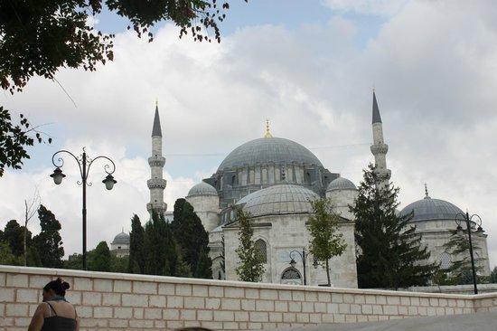 Suleymaniye Hamam : The nearby Sulymaniye Mosque.