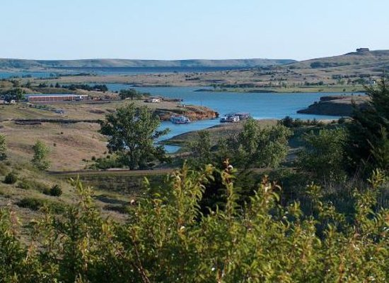 Kansas: Hell Creek Cove on Wilson Res. in the Smoky Hills of Ks