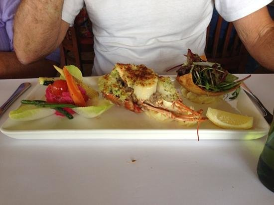 The Terrace Seafood Restaurant: lobster saint jacques