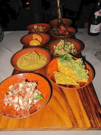 An array of local foods from Balinese Movie Night