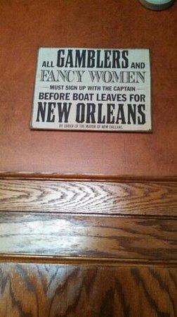 The Quarter: interesting ladies room sign