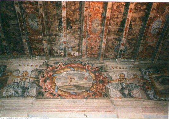 San Martino in Rio, Rocca Estense, soffitto della sala dell'Orsi