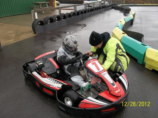 Karting North East: Grandson Jamie first time in a kart