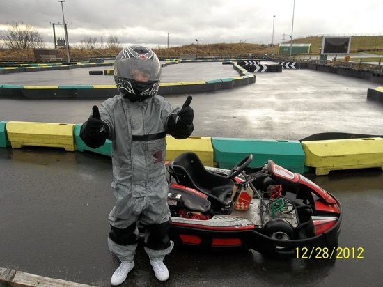 Karting North East: The thumbs up he loves it