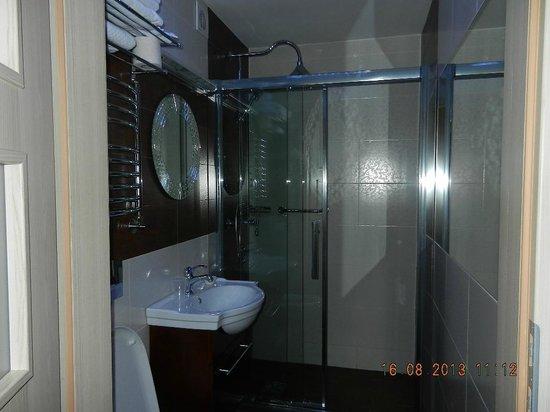 M Hotel Sosnowiec : Washroom needs more light