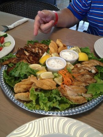 Guy's Gulfside Grill: My husbands catch that the chef prepared for us.  Scrumptious!